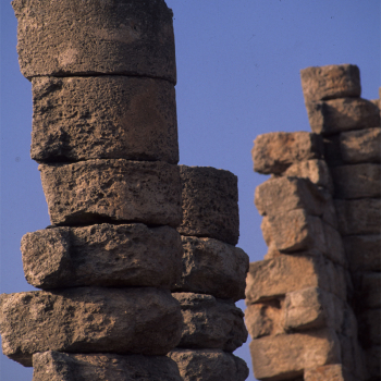 Doves rest Atop ruins of Nabataen temple