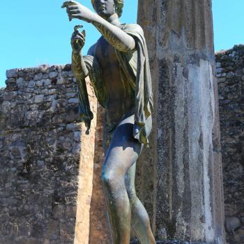 Apollo bronze statue from Pompeii