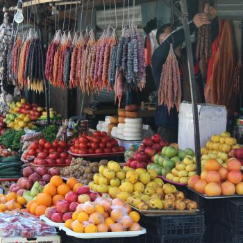 Traditional Georgian Fruit and Vegetables Market